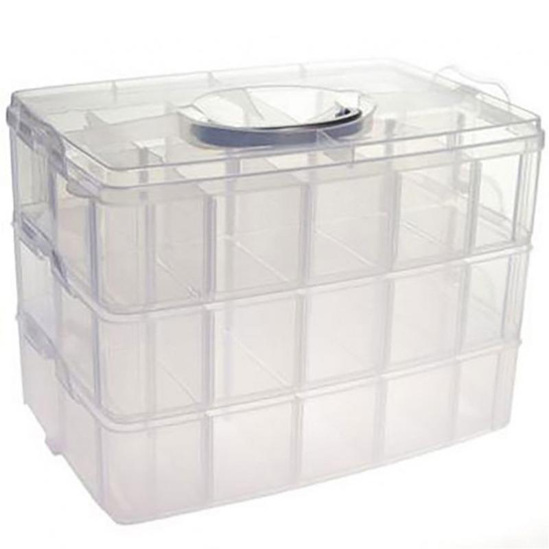 Boite De Rangement Plastique 30 Compartiments Translucide Boite Rangement Perles Creavea