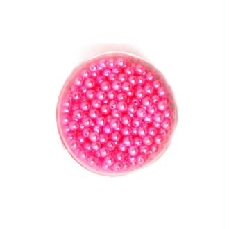 100 Perles ronde nacré acrylique rose clair 6 mm