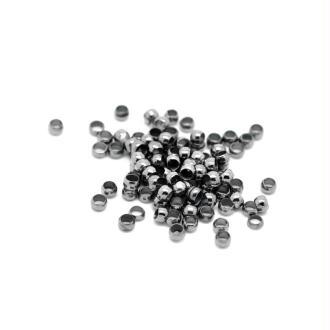 100 Perles à écraser Diamètre 3 mm - Couleur gunmetal