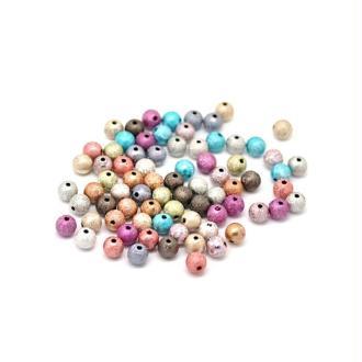 100 Perles ronde Effets Magiques 8 mm