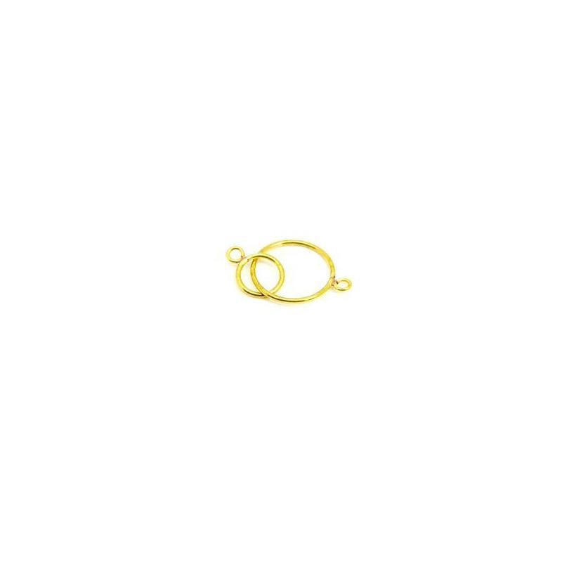 Double anneaux rond 2 cercles en laiton brut 30 mm for Accessoire cuisine en ligne