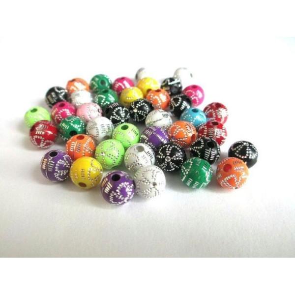 100PCS 15 mm Dépoli Acrylique Mélange de Couleur Feuille Perles pour Fabrication de Bijoux