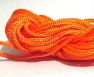 Fil Nylon Tressé Orange 2Mm En Écheveaux De 12Mm