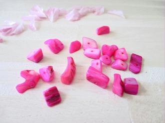 Lot de 30 gr de perles couleur rose clair (environ 30 perles)
