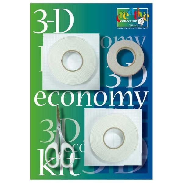 Mousse adhésive pour tableau 3D - Le kit économique - Photo n°1