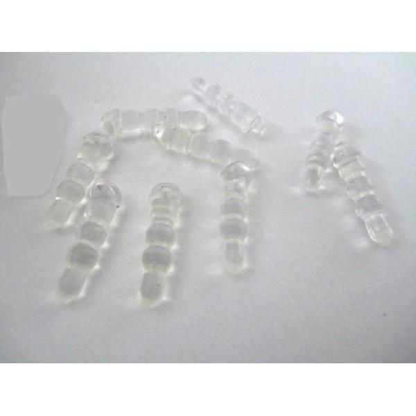 20 Bouchons Anti Poussière Plastique Transparent Pour Prise Jack - Photo n°1