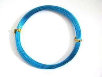 10M Fil Alu Couleur Bleu Turquoise  0.8Mm En Bobine
