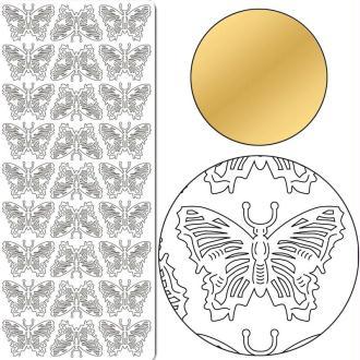 Autocollant Peel off Papillon or