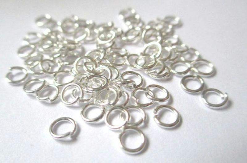 250 anneaux de jonction 4mm couleur argent anneaux for Ariete bon cuisine 250 metal