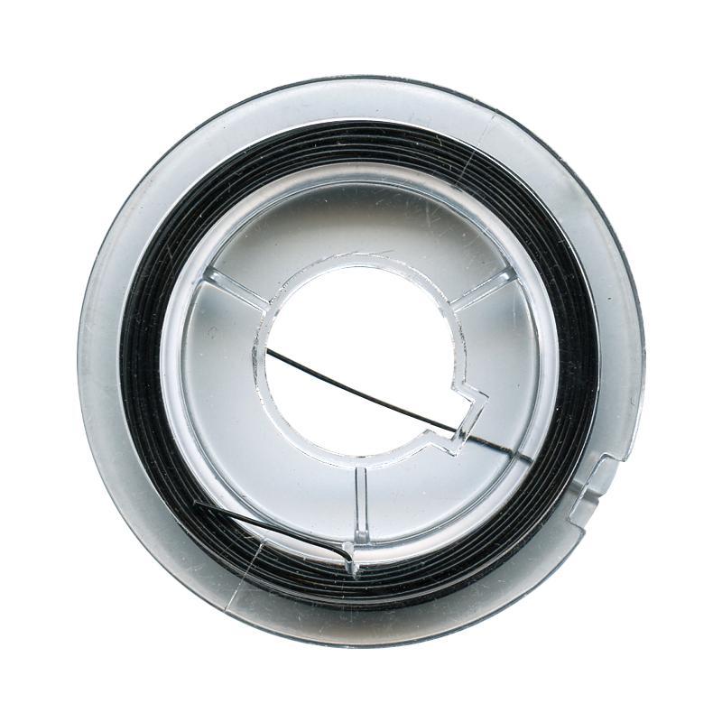 fil de fer pour bijoux 0 45 mm noir 10 m tres fil m tallique creavea. Black Bedroom Furniture Sets. Home Design Ideas