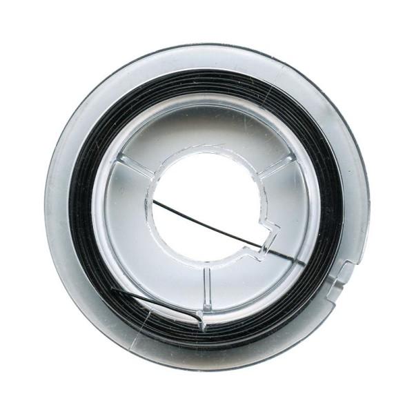 Fil de fer pour bijoux 0,45 mm Noir - 10 mètres - Photo n°1