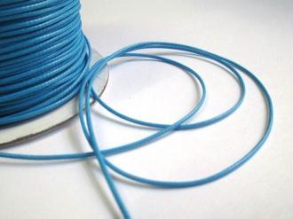 5M  Fil Cordon Polyester Bleu Ciré 1Mm