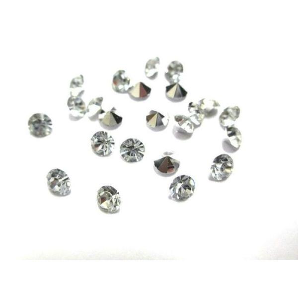 100 Strass En Résine Forme Diamants Dimension 4Mm - Photo n°1