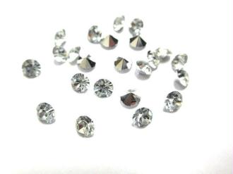 100 Strass En Résine Forme Diamants Dimension 4Mm