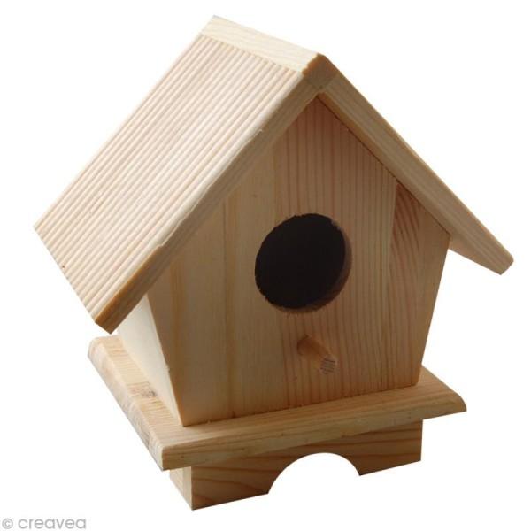 Maison Abri Oiseaux Bois 12 X 9 X 13 Cm