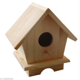 Maison abri oiseaux - Bois - 12 x 9 x 13 cm