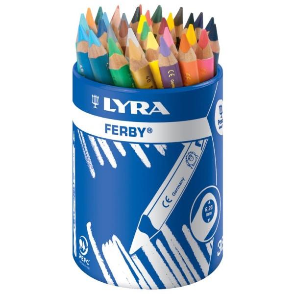 Crayon de couleur FERBY x 36 - Coffret école - Photo n°1