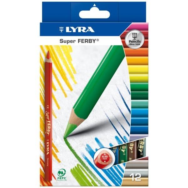 Crayon De Couleur Super Ferby X 12 Crayon De Coloriage Creavea