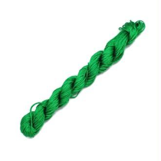 Fil shamballa Vert 1 mm x 25 mètres - Nylon tressé 1 millimètre