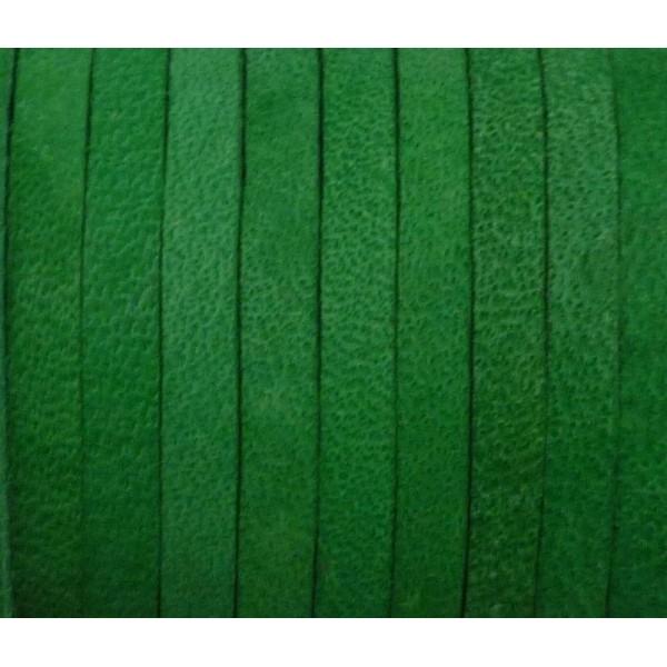 1m Cuir Carré 3,3mm De Couleur Vert Herbe - Cuir - Photo n°2