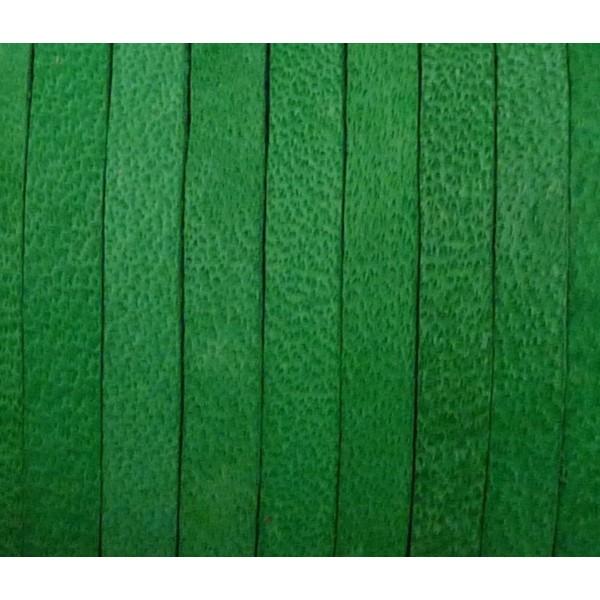 1m Cuir Carré 3,3mm De Couleur Vert Herbe - Cuir - Photo n°3