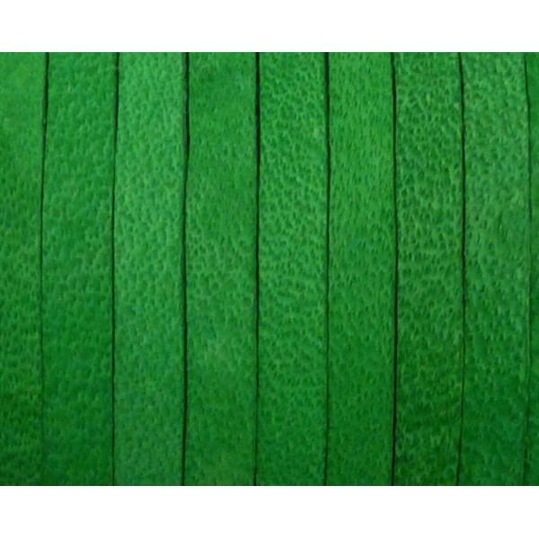 1m Cuir Carré 3,3mm De Couleur Vert Herbe - Cuir - Photo n°1