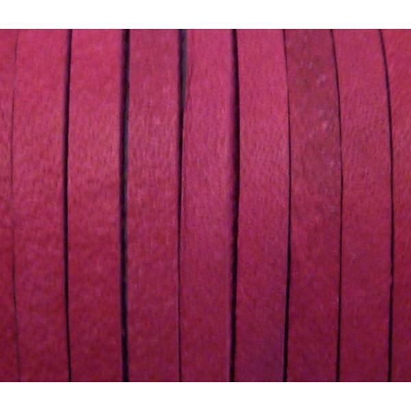 1m Cuir Carré 3,3mm De Couleur Rose Fuchsia - Cuir - Photo n°3