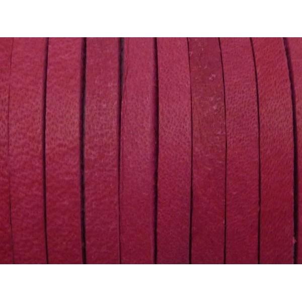 1m Cuir Carré 3,3mm De Couleur Rose Fuchsia - Cuir - Photo n°5