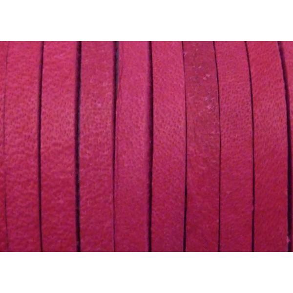 1m Cuir Carré 3,3mm De Couleur Rose Fuchsia - Cuir - Photo n°1