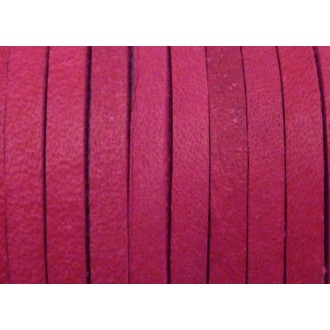 1m Cuir Carré 3,3mm De Couleur Rose Fuchsia - Cuir