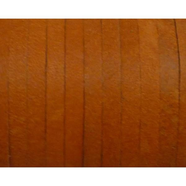 1m Cuir Carré 3,3mm De Couleur Orange - Cuir Veritable - Photo n°5