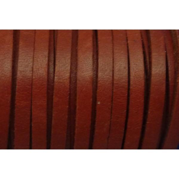 R-1m Cuir Carré 3,3mm De Couleur Rouge Grenat - Cuir - Photo n°3