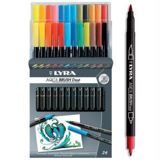 Feutre Pinceau Aqua Brush Duo LYRA x 24