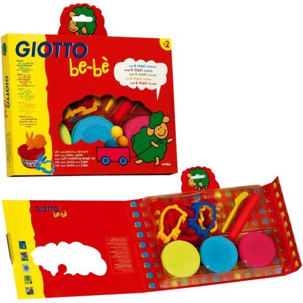 Pâte à modeler GIOTTO Bébé - 3 x 100g et accessoires - Photo n°1