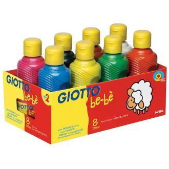 Peinture gouache GIOTTO Bébé 8 couleurs assorties - 8 x 250ml