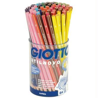 Crayons de couleurs GIOTTO Stilnovo x 84 - Coffret école