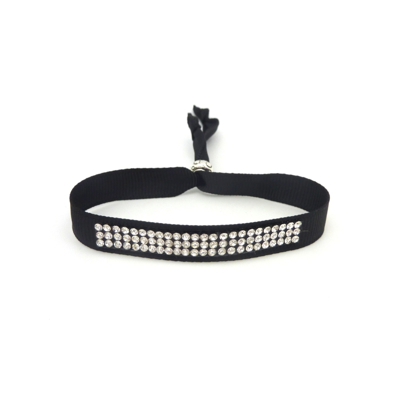 Kit de cr ation bracelet strass et ruban ajustable kit bijoux adulte creavea - Bracelet perle et ruban ...