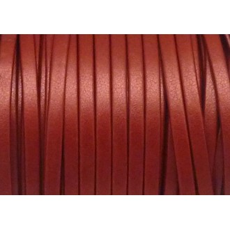 1m Lanière Simili Cuir 3mm De Couleur Rouge Effet Légèrement Nacré Très Belle Qualité