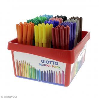 Feutre de coloriage Turbo color GIOTTO x 144 - Coffret école