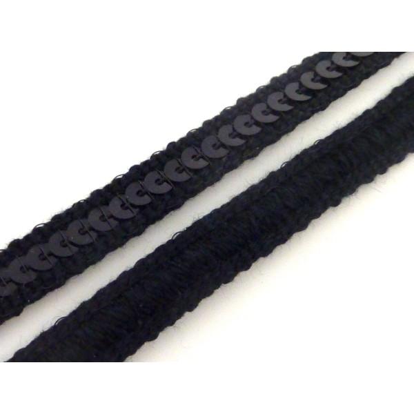 1m Galon Sequin Sur Ruban 9mm De Couleur Noir - Photo n°1