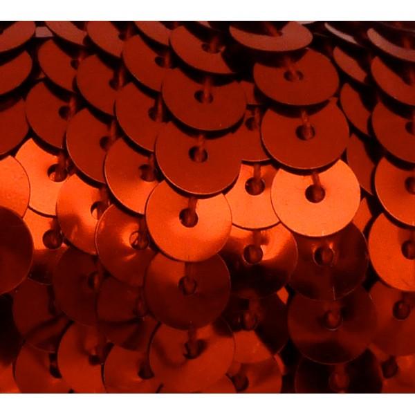 2m Ruban Galon Sequin De Couleur Rouge 6mm Brillant - Photo n°1