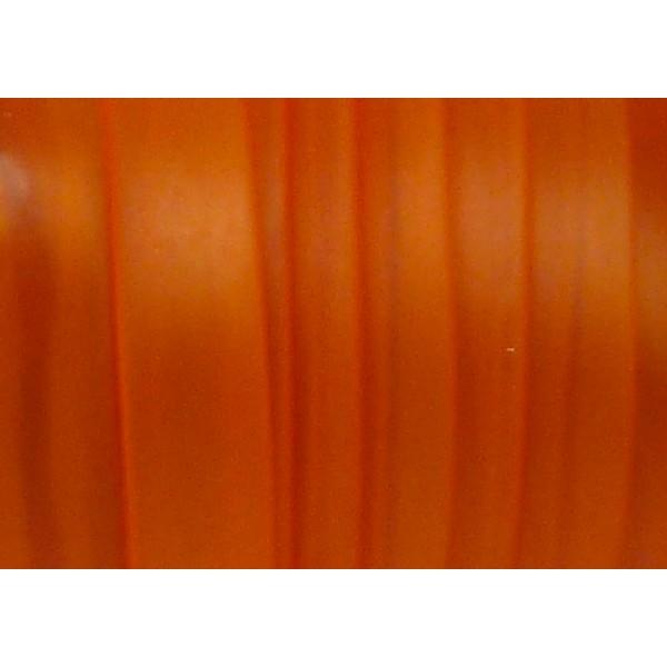 50 Cm Cordon Pvc, Caoutchouc Plat Largeur 1cm Orange Transparent - Photo n°2