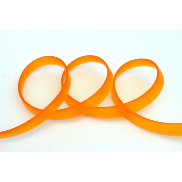 50 Cm Cordon Pvc, Caoutchouc Plat Largeur 1cm Orange Transparent - Photo n°1