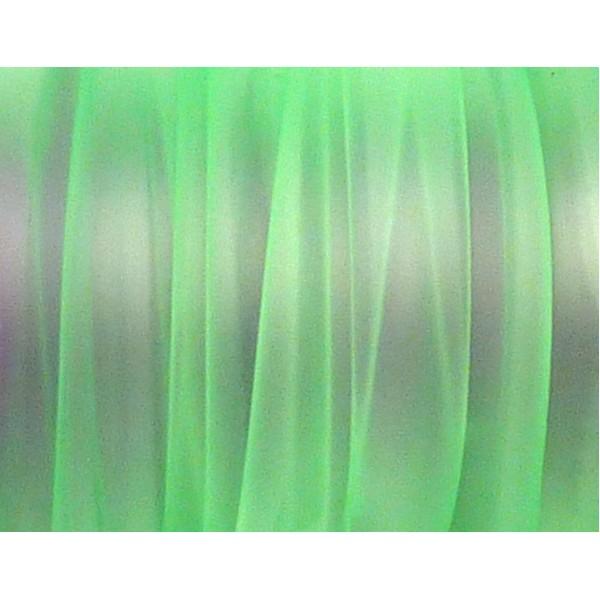 50 Cm Cordon Pvc, Caoutchouc Plat Largeur 1cm Vert Transparent - Photo n°3