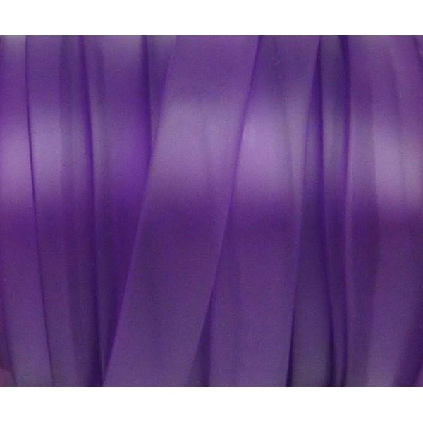 50 Cm Cordon Pvc, Caoutchouc Plat Largeur 1cm Violet Transparent - Photo n°2