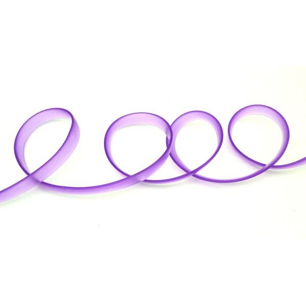 50 Cm Cordon Pvc, Caoutchouc Plat Largeur 1cm Violet Transparent - Photo n°1