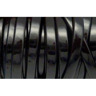 1m Lanière Simili Cuir 6,3mm De Couleur Noir Vernis Brillant Très Belle Qualité