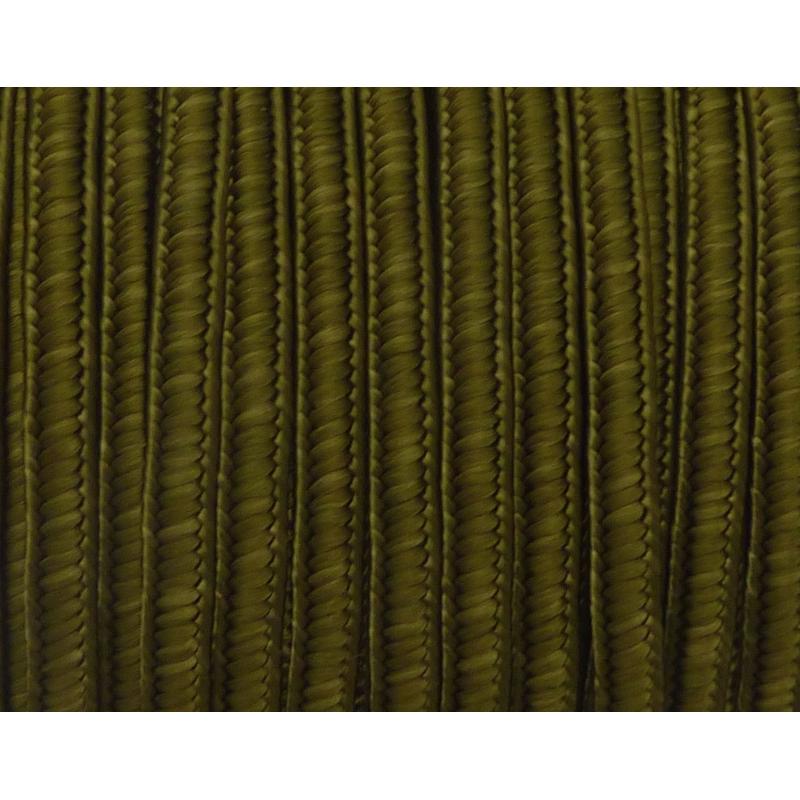 r 5m ruban soutache plat 4mm de couleur vert kaki satin cordon plat creavea. Black Bedroom Furniture Sets. Home Design Ideas