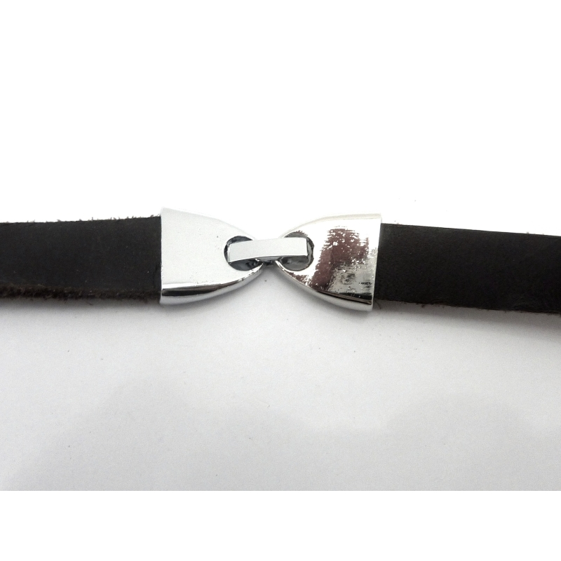 Fermoir clip pour lani re cuir de 9 5 10mm en m tal for Effet miroir photo iphone