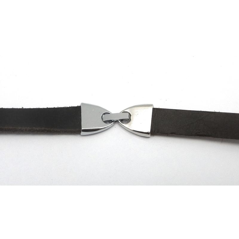 Fermoir clip pour lani re cuir de 9 5 10mm en m tal for Effet miroir iphoto